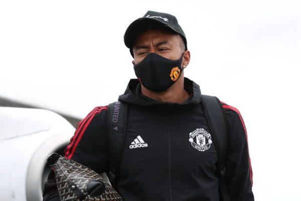 Lingard was infected covids a few hours before game against Everton.