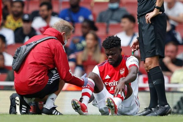 Arsenal bad news Thomas Partey suffered an ankle injury.